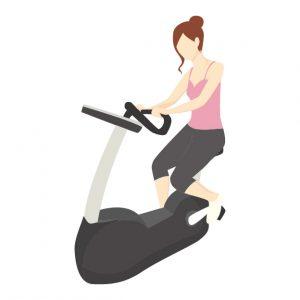 痩せるエアロバイクのこぎ方