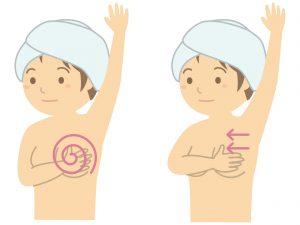 乳がんセルフチェックのやり方