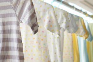 赤ちゃんの洋服や肌着は汚れやすい